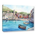 ArtWall Bill Drysdale ' Vernazza ' Gallery-Wrapped Canvas