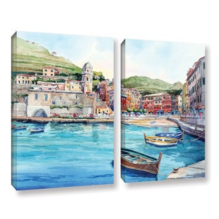 ArtWall Bill Drysdale ' Vernazza 2 Piece ' Gallery-Wrapped Canvas Set