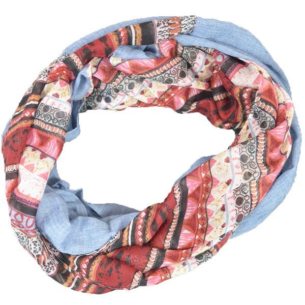 LA77 Half Tribal and Solid Infinity Scarf