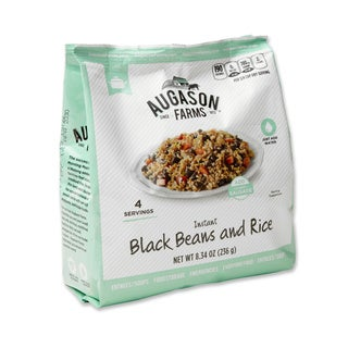 Augason Farms Pantry Pack Instant Black Beans and Rice (Pack of 6)