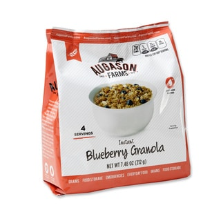 Augason Farms Pantry Pack Instant Granola with Milk and Blueberries (Pack of 6)