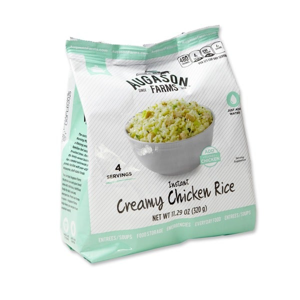 Augason Farms Pantry Pack Instant Creamy Chicken Rice (Pack of 6)