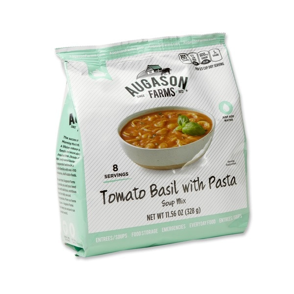 Augason Farms Pantry Pack Tomato Basil with Pasta Soup Mix (Pack of 6)