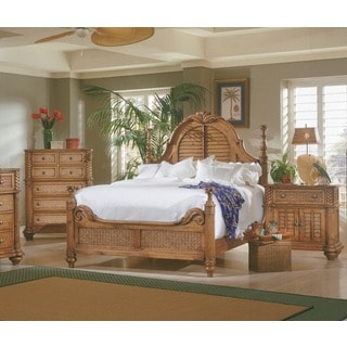 Palm Court Pine Wood 4-post Island Bed