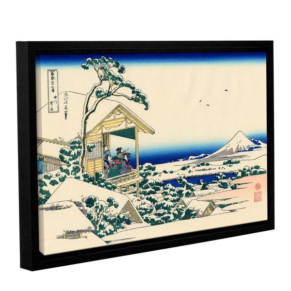 ArtWall Katsushika Hokusai 'Tea House At Koishikawa. The Morning After A Snowfall.' Gallery-wrapped