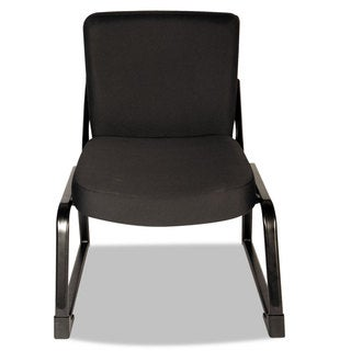 Alera Plus XL Series Black Big & Tall Mid-Back Guest Chair
