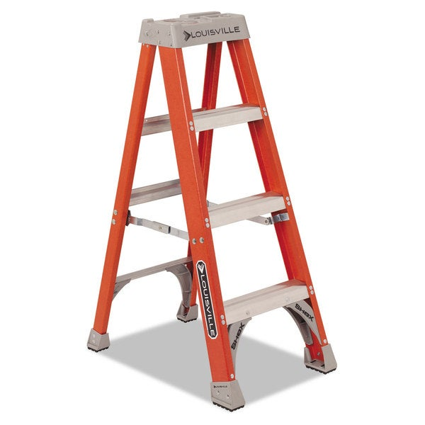 Louisville Fiberglass Orange Heavy Duty Step Ladder