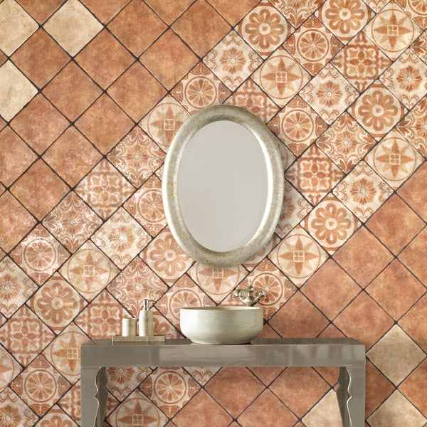 SomerTile 7.75x7.75-inch Gavras Marron Ceramic Floor and Wall Tile (Case of 25)