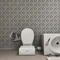 SomerTile 7.75x7.75-inch Gavras Cendra Décor Fleur Ceramic Floor and Wall Tile (Case of 25)
