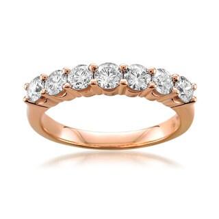 14k or 18K Rose Gold 1ct TDW Round-cut White Diamond Wedding Ring (G-H, SI1-SI2)