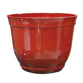 15-inch Outdoor Red Bowl Planter