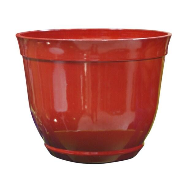 13-inch Red PVC Planter