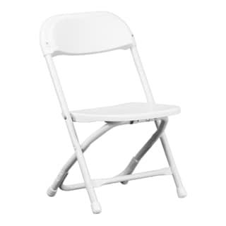Dahila Kids White Folding Chairs
