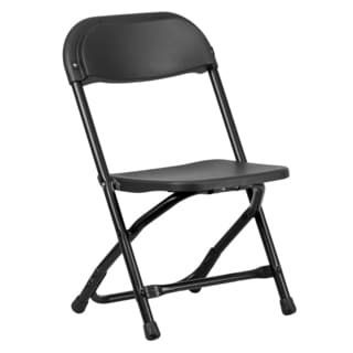 Dahila Kids Black Folding Chairs