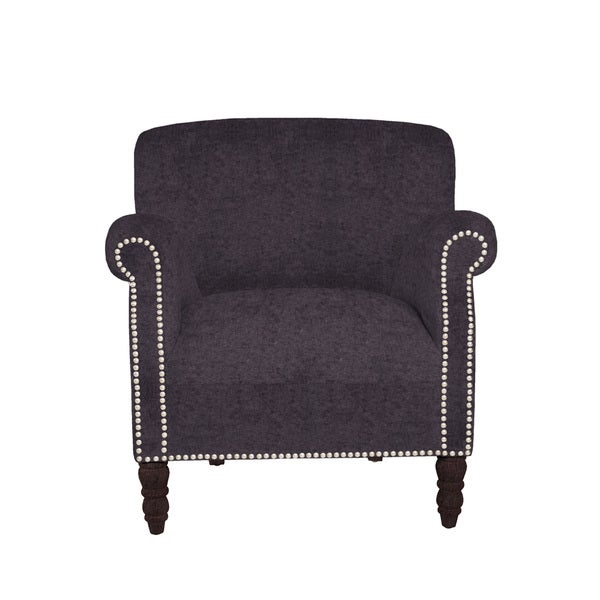 angelo:HOME Carissa Parisian Aubergine Purple Arm Chair