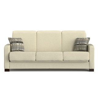Portfolio Trace Convert-a-Couch Ivory Chenille Futon Sofa Sleeper