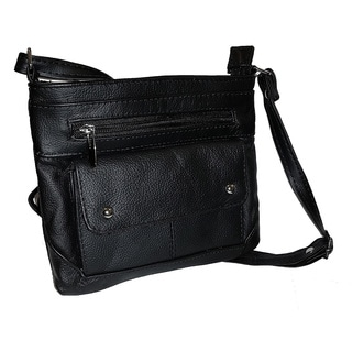 Continental Leather Everyday Small Crossbody Bag with 57-inch Adjustable Shoulder Strap