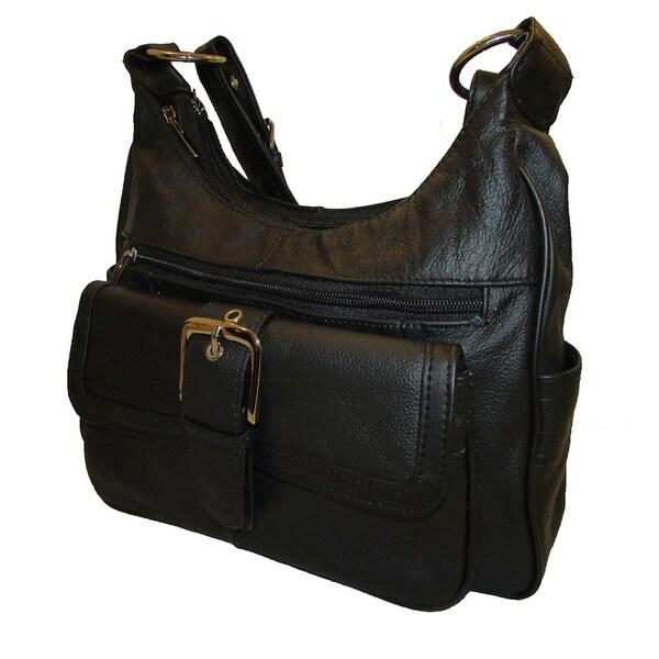 Continental Leather Shoulder Bag with Adjustable Strap