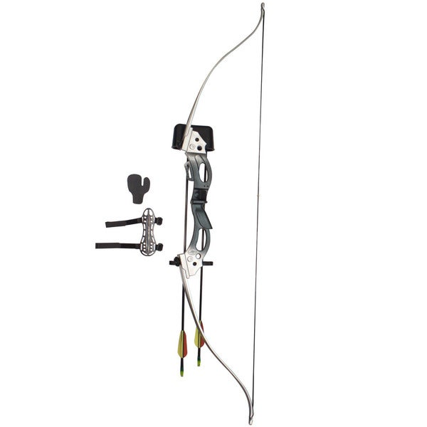 SAS Uprising Youth Recurve Takedown Bow Set - Silver/Blue RH