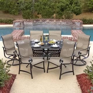 La Salle 6-Person Sling Patio Dining Set With Cast Aluminum Table