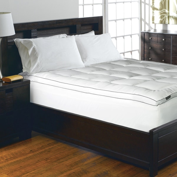Elle 1200 Thread Count Cotton-rich Solid Mattress Pad