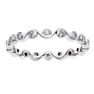 Beverly Hills Charm 10k Gold 1/3ct TDW Diamond Eternity Stackable Band (H-I, I2-I3)
