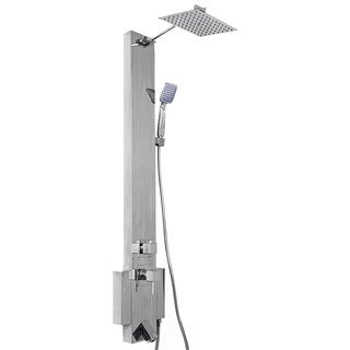 AKDY 48-inch Stainless Steel Shower Panel with Tower Massage Spa System Kits Ultra Thin Rainfall Shower Head