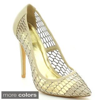 Cape Robbin Cathy-YH-2 Women's Sassy Mesh Upper Hollow Out Stiletto Heels