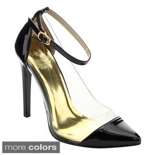 Cape Robbin Veni-by-13 Women's Sassy Ankle Strap Stiletto Heels