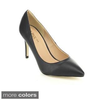 Mixx Shuz Ashley-02 Women's High Heel Pointed Toe Classic Dress Pumps
