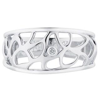 Boston Bay Diamonds Sterling Silver Diamond Accent Labrynth Fashion Ring