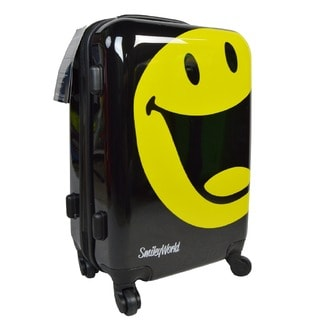 Smiley World Wink 30-inch Expandable Hardside Spinner Upright Suitcase