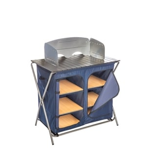 Kamp Rite Folding Prep Table with Pantry