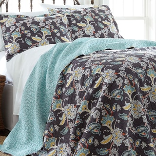 Belinda 100-percent Cotton 3-piece Reversible Quilt Set
