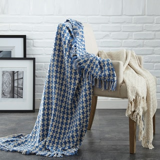 2 Pack 100% Cotton Houndstooth throws
