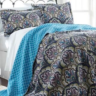 Carly 100-percent Cotton 3-piece Reversible Quilt Set