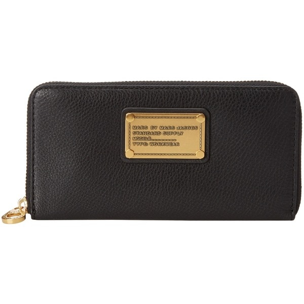 Marc By Marc Jacobs Wallet - Vertical Zippy.Black