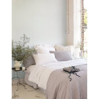 Iden Grey Coverlet or Sham Individuals