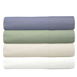 300 Thread Count Cotton Rich 4-Piece Solid Sheet Set