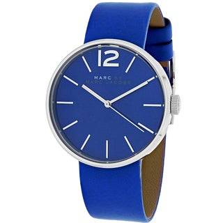 Marc Jacobs Women's MBM1364 Peggy Round Blue Leather Strap Watch