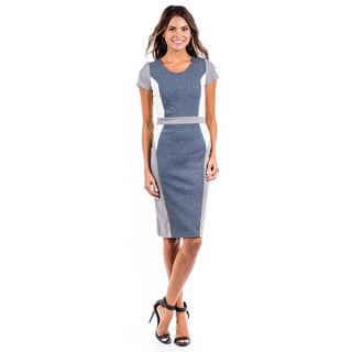 DownEast Basics Women's Colorblock Paneling Dress