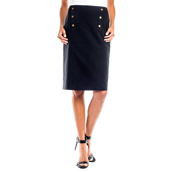 DownEast Basics Women's Sailor Snap Pencil Skirt