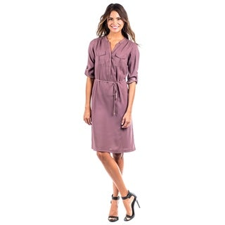 DownEast Basics Women's Pocket Front Safari Dress