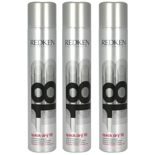 Redken Quick Dry 18 11-ounce Finishing Spray (Pack of 3)