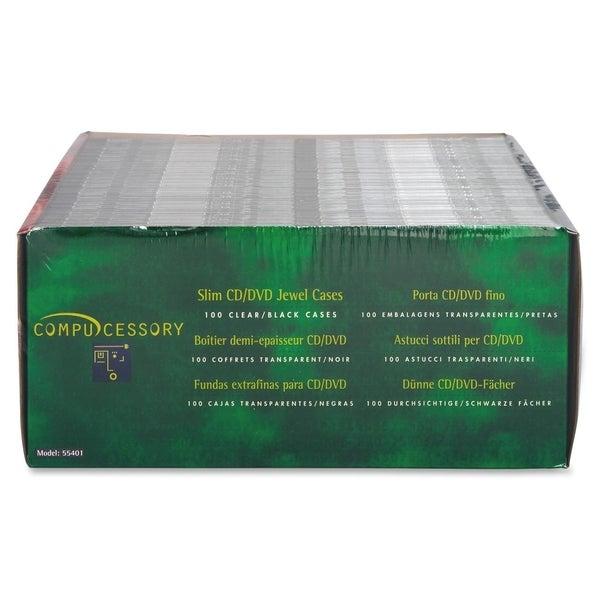 Compucessory Thin CD/DVD Jewel Case - 100/PK