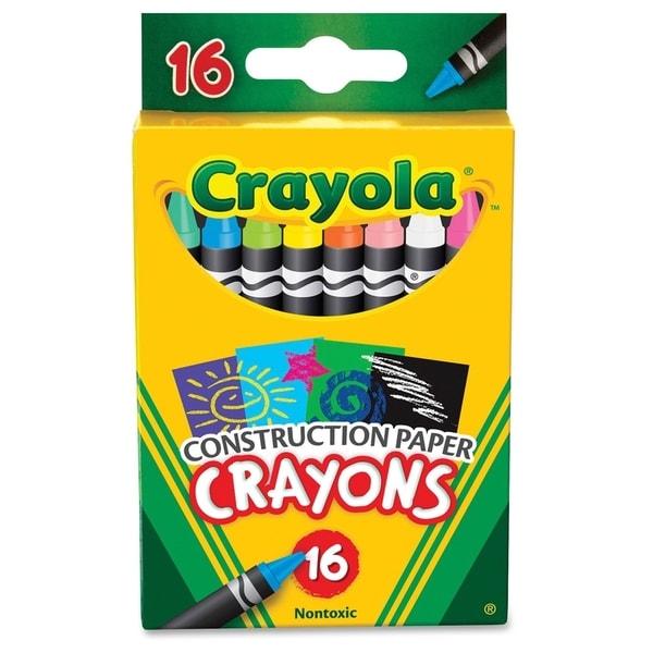 Crayola 16 Construction Paper Crayons - 16/PK