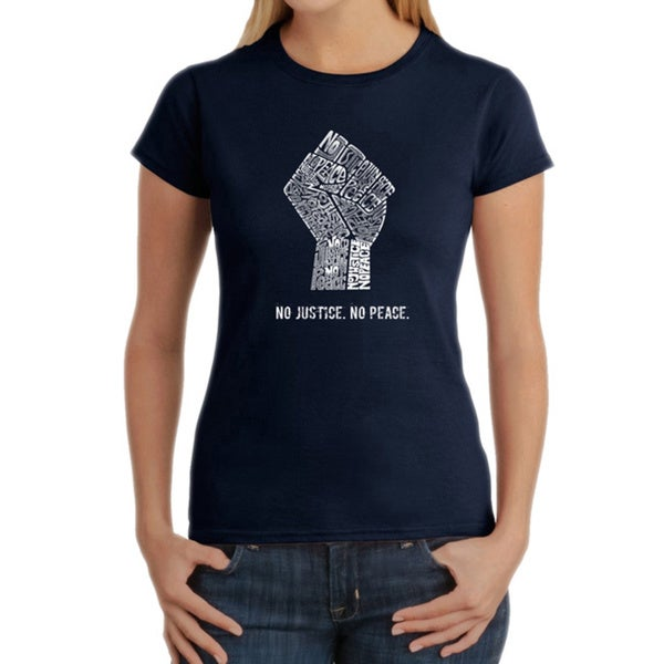 LA Pop Art Women's No Justice, No Peace T-shirt 15780627