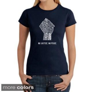 LA Pop Art Women's No Justice, No Peace T-shirt