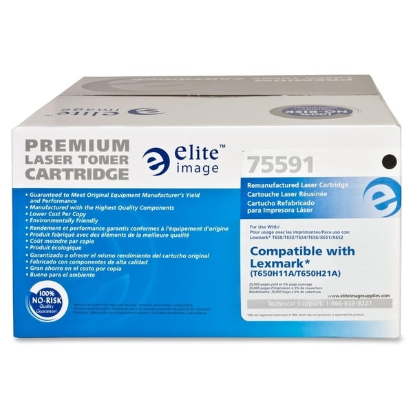 Elite Image Remanufactured Toner Cartridge Alternative For Lexmark T65x (T650H11A) - 1 Each