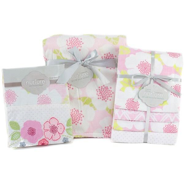 Nurture Imagination Garden District Blanket and Sheet Bundle (Set of 3)